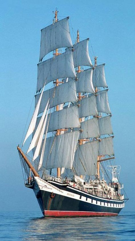 Tall ship approaching NYC harbor                              …