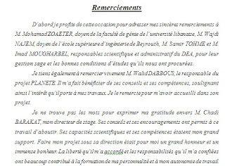 Exemple De Remerciement Mémoire Remerciements Mémoire De