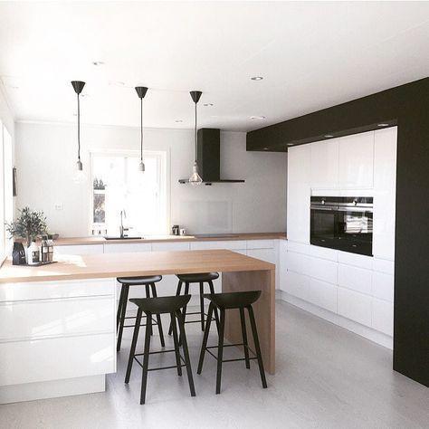 100 idées de cuisines modernes avec des éléments en bois ...