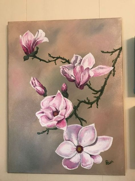 Buy Japanese Magnolia, Acrylic painting by Pamela Long-Cauley on Artfinder. Discover thousands of other original paintings, prints, sculptures and photography from independent artists.