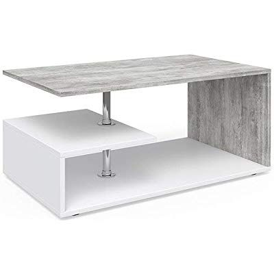 Vicco Coffee Table Amato Living Room Table Concrete White 90x60