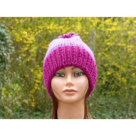 Pjus Femmes Filles Winterset Hiver Bonnet Pompon Bonnet cheminée écharpe avec laine