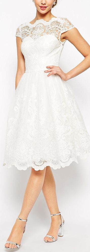 Retro Lace Dress For After The Ceremony