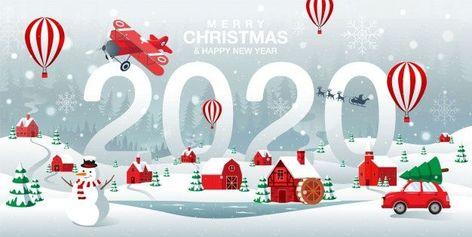 carte joyeux noel 2020 Joyeux Noël Et Bonne Année 2020 Ville Natale à Forrest Winter