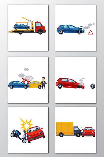 Cartoon Traffic Accident Design Vector Png Images Ai Free Download Pikbest Sketch Inspiration Design Graphic