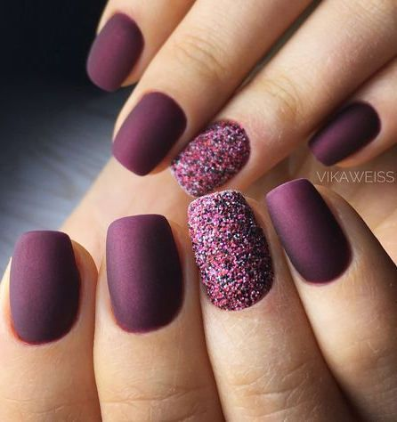 32 Purple And Burgundy Nail Designs For Christmas Holiday - HowLives