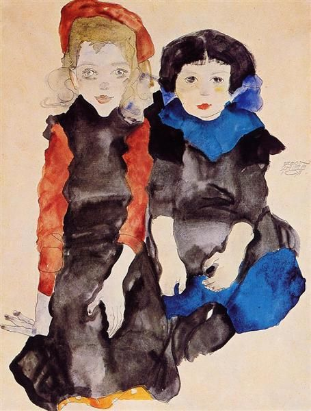 Image result for famous paintings of two little girls""