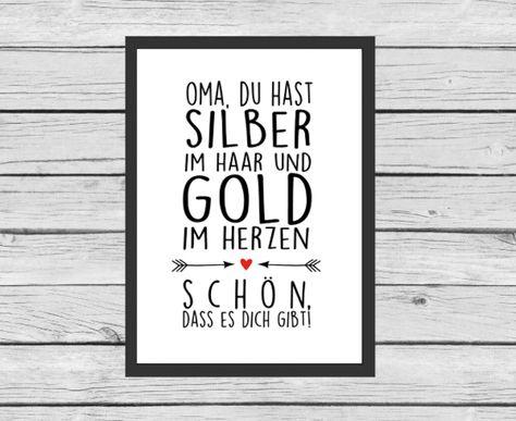 Typo für Oma und Opas / art print for granny and grandpa by Kitsch'n Story via DaWanda.com