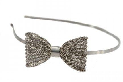 Serre tête nœud argenté Accessoires cheveux, Noeud