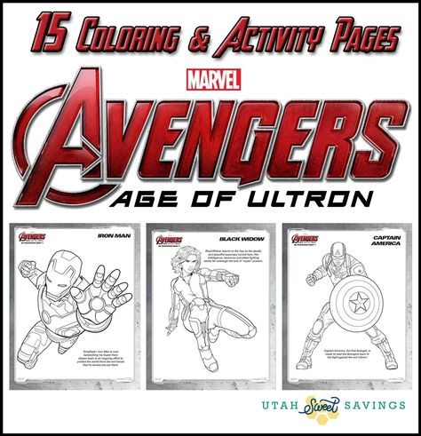 15 free printable coloring  activity pages for the new marvel avengers age of ultron movie if
