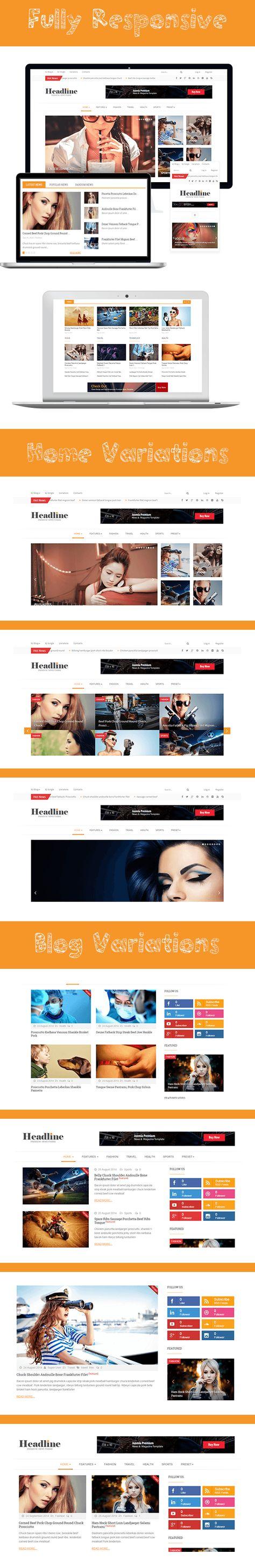 Headline - Responsive Joomla News, Magazine, Blog