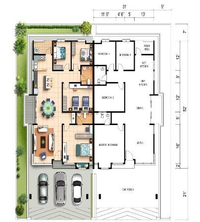 Permalink to Top 13+ Examples Semi D 4 Bedroom Design Single Floor