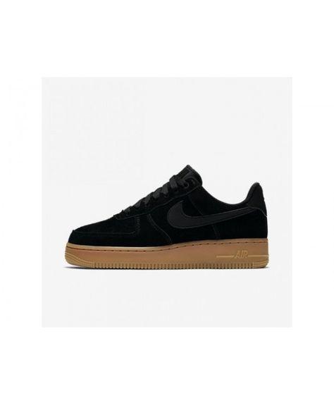 Nike Wmns Air Force 1 '07 Se Black Black Gum Med Brown Ivory