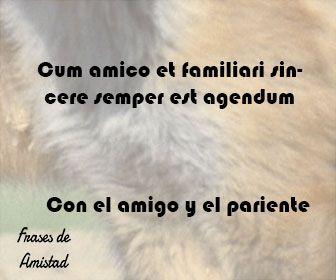 Frases De Amistad En Latin Frases De Amistad Amor Amistad