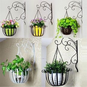 Metal Outdoor Indoor Pot Plant Stand Garden Decor Flower Rack Wrought Iron Us Decoracao De Ferro Decoracao Jardim Decoracao De Varanda Pequena