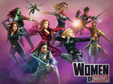 """Captain Marvel Fanpage 🌟 on Instagram: """"Women of #Marvel = my weakness! I really want to see Captain Marvel fighting side by side with Valkyrie and Scarlet Witch in future movies…"""""""