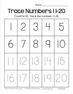 Winter Activities Numbers 1 20 Winter Math Worksheets For