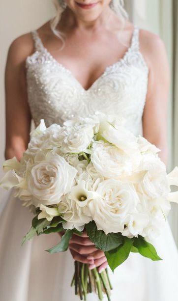 Elegant Martina Liana Beaded Ballgown Wedding Dress With White