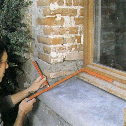 Comment Enduire L Entourage Interieur Et Exterieur D Une Fenetre Fenetre Fenetres Exterieures Linteau