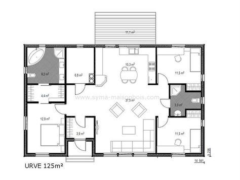 Résultat de recherche du0027images pour  - plan de maison rectangulaire plain pied
