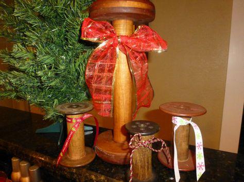 Vintage Industrial Wooden Spools  4 by RiverOfTimeTreasures, $32.00