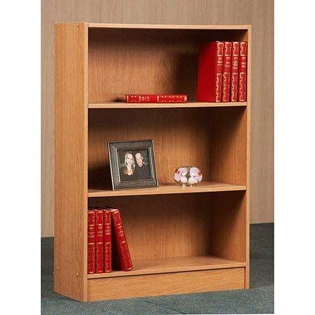 3 Shelf Bookcase Multiple Finishes Features 3 Shelves 1 Fixed Shelf And 2 Adjustable Shelves Classic Finish 3 Shelf Bookcase Bookcase Home Office Furniture