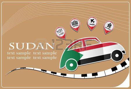 Icono Del Coche Hecho De La Bandera De Canadá Bandera De Irak Bandera De Sudán Iconos