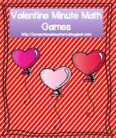 Kinder & 1st Valentine Minute to Win it Math Games  CrAzY cute!!