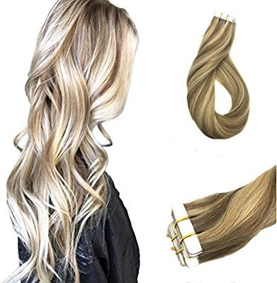 Googoo Highlight Remy Tape In Human Hair Extensions Two Tone Ash