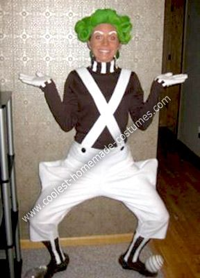 Homemade Oompa Loompa Costume: This is my Homemade Oompa Loompa Costume. For the hair: I bought a blond wig, cut it, rolled it up, bobby pinned it, and sprayed it with hair spray and
