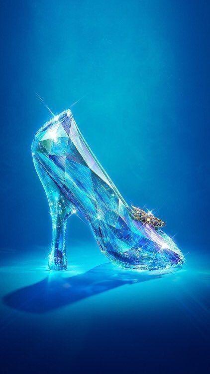 Cartoon Glass Slipper : cartoon, glass, slipper, Aymara, Tales, Disney, Wallpaper,, Princess, Wallpaper
