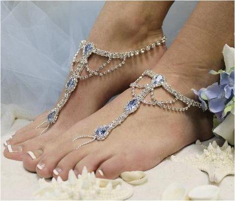 4a8e3d42497 List of Pinterest barefoot sandals wedding beach something blue ...