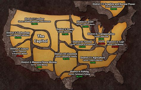 Best Map of Panem, yet. | Hunger Games! in 2019 | Hunger games ...