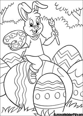 AUSMALBILDER OSTERN | Easter Coloring Pages Printables ...