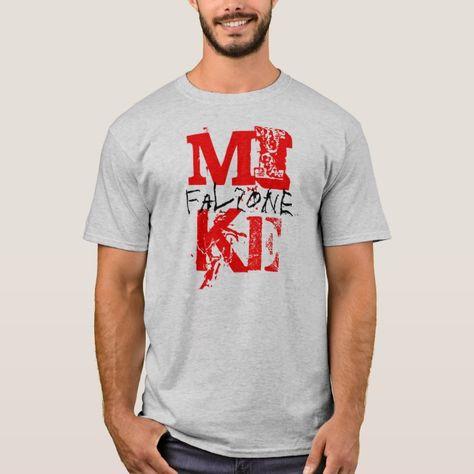MIKE, falzone T-shirt, Men's, Size: Adult L, Grey