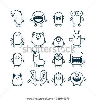 63 Trendy Drawing Cute Monsters Animals Drawing Easy Cartoon