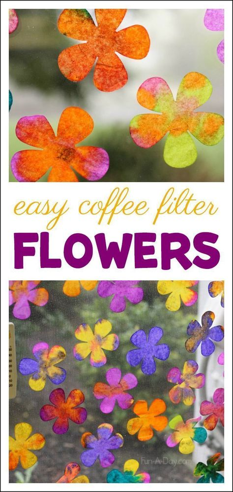 Explore science and art concepts with coffee filter flowers - an awesome coffee . - Explore science and art concepts with coffee filter flowers – an awesome coffee filter art project - Coffee Filter Art, Coffee Filter Crafts, Coffee Filter Flowers, Coffee Art, Coffee Filter Projects, Easy Coffee, Spring Art Projects, Spring Crafts For Kids, Projects For Kids