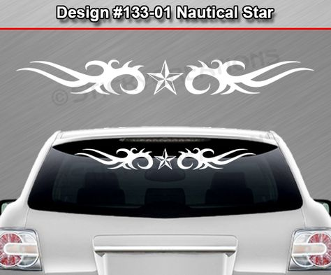 #126-01 NAUTICAL STAR Tribal Accent Windshield Decal Window Sticker Car Banner