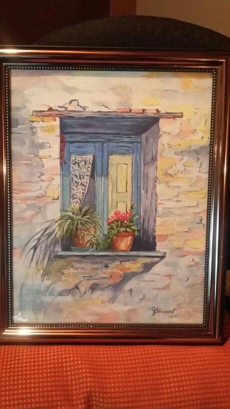 Fenetre Sur Cour Fait A L Aquarelle Peinture En Tube Pwc Shinhan