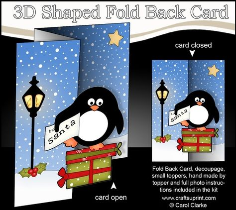 Singing Santa /& Westie Dog Merry Carollers Scallop Corner by Carol Clarke