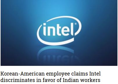 Korean-American employee claims Intel discriminates in favor of Indian workers