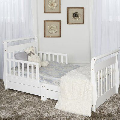 Dream On Me Toddler Sleigh Bed With Drawers Bed With Drawers