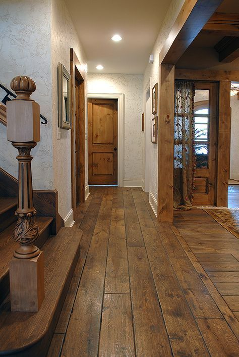 7 1 4 Wide Plank Solid Vintage Grade French Oak Hardwood Floor Custom Gray Color Hand Scraped Han Oak Hardwood Flooring Wood Floors Wide Plank Rustic House