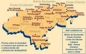 Resultado De Imagen De Mapa De Las Comarcas De Cantabria Imágenes De Mapas Mapas Islas