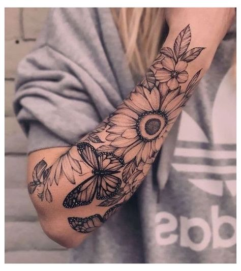 Full Arm Sleeve Tattoo, Tattoos For Women Half Sleeve, Best Sleeve Tattoos, Female Tattoo Sleeve, Family Sleeve Tattoo, Sexy Tattoos For Women, Women Sleeve, Design Tattoo, Flower Tattoo Designs