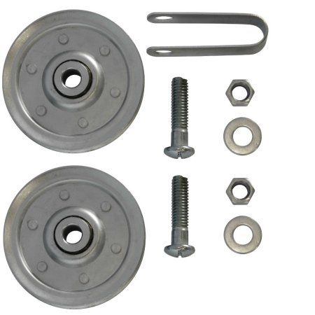 3 Inch Garage Door Pulleys With Fork And Bolts 2 Pack Made Of