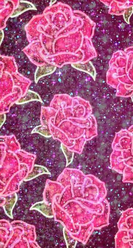 Wallpaper Iphone Rose Gold Glitter Background Pink Sparkles 15