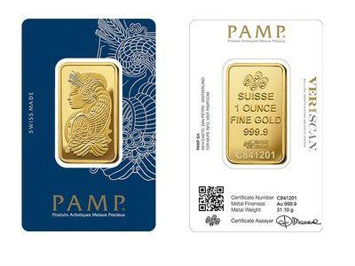 Pamp 1 Ounce Gold Bar Bullion