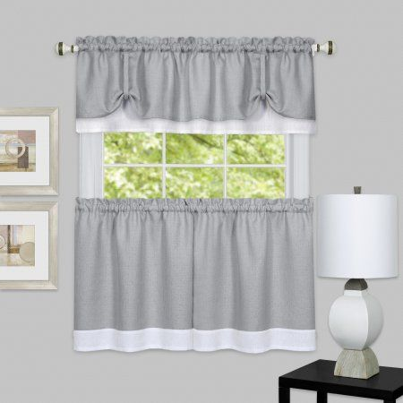 Home White Kitchen Curtains White Valance Valance Curtains