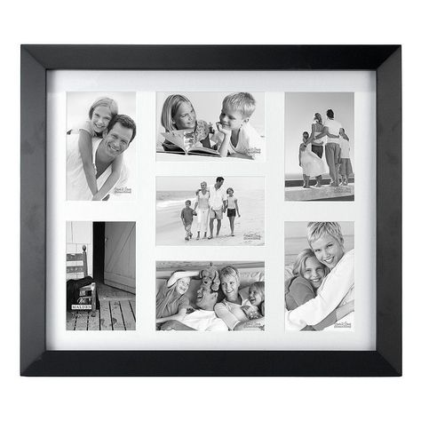Malden Matted Black Berkely 7-Opening 4 x 6 Collage Frame ...